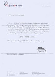 Declaration - AgustaWestland