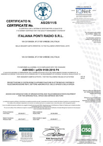 Certification 9100:2016