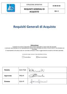 Requisiti Generali di Acquisto